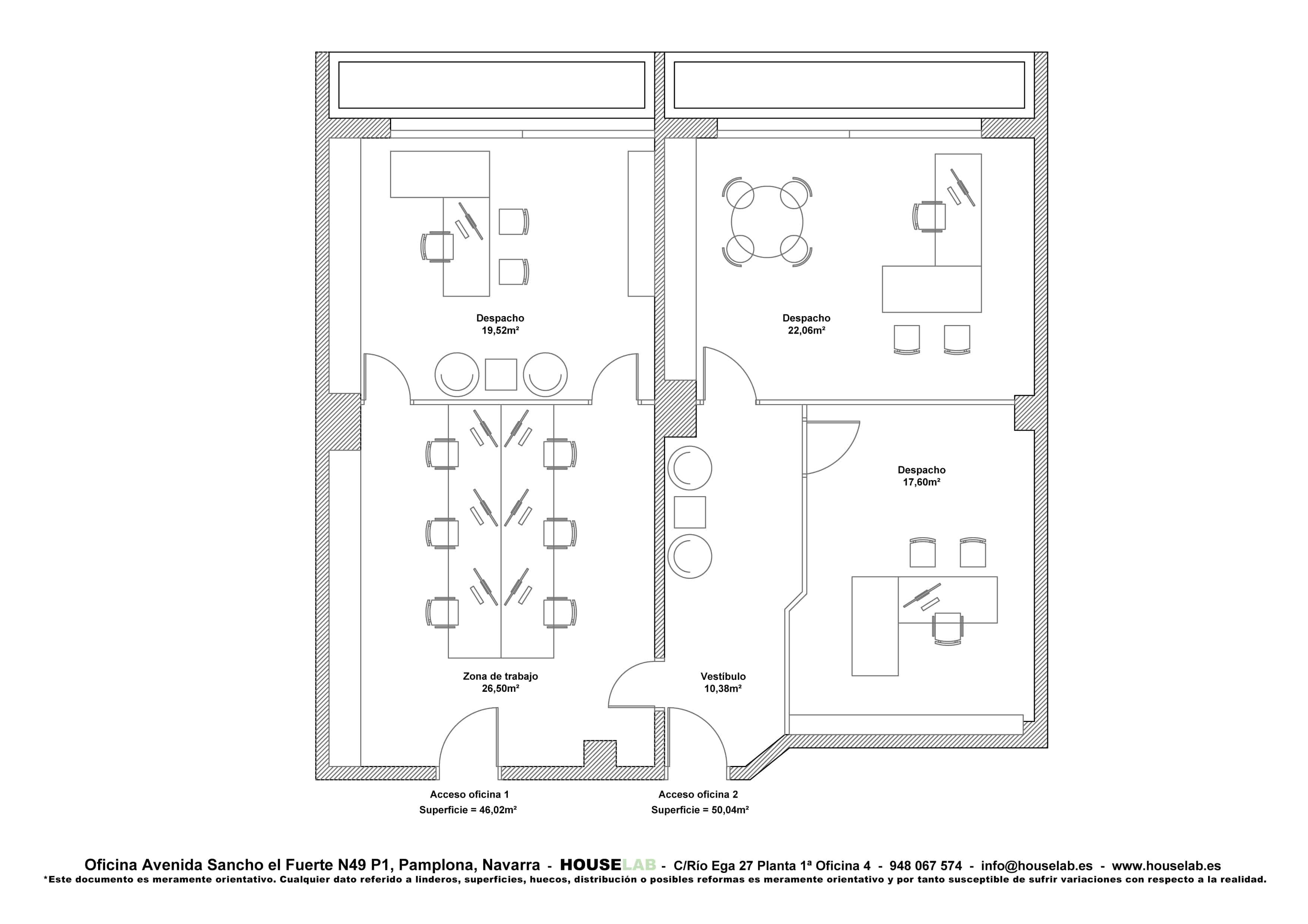 Oficina en av sancho el fuerte n49 houselab for Distribucion oficinas